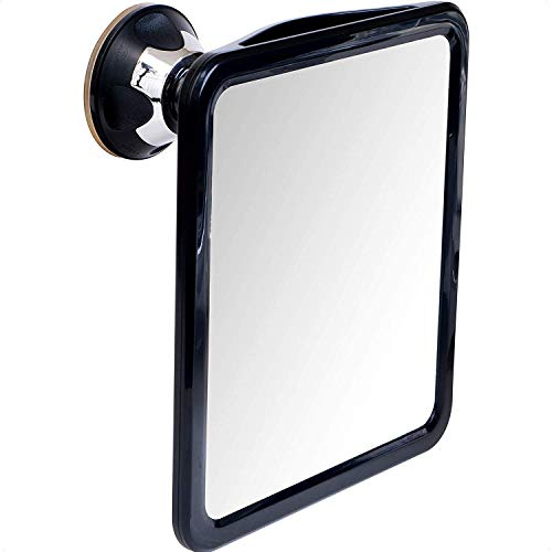 """2019 Shatterproof Fogless Shower Mirror for Fog Free Shaving with Upgraded Suction & Swivel, Portable and Travel Ready, 8"""" x 7"""""""