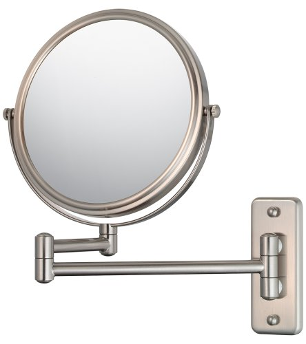 Mirror Image 21175 Double Arm Wall Mirror, 7.75-Inch Diameter, 1X and 5X -