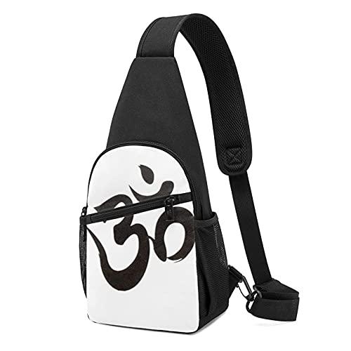 Bolso de pecho de Buda Seal Anime (bandolera de cuerpo cruzado) informal de moda deportiva de gran capacidad, bolso de hombro unisex de regalo para la escuela, escalada de montaña, viajes