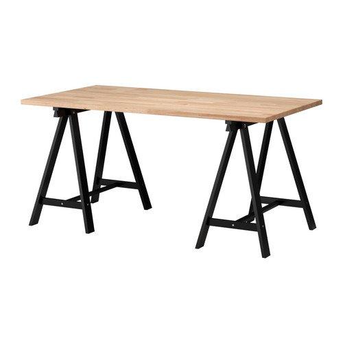 IKEA Gerton ODDVALD Table Beech / Black - 155 x 75 CM