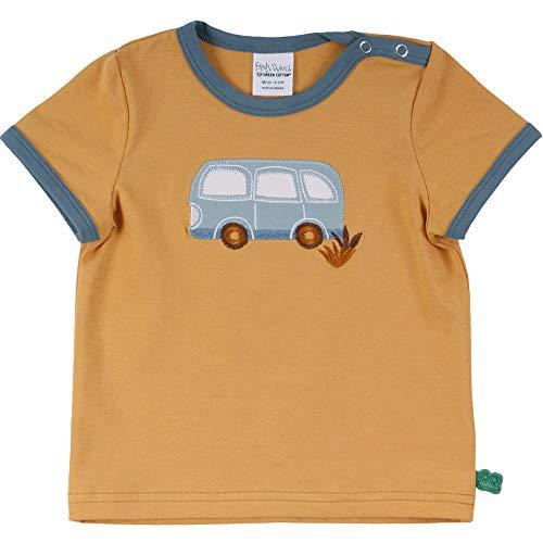 Fred's World by Green Cotton Baby Mädchen Hello Bus s/s T-Shirt, Orange Mango, 92