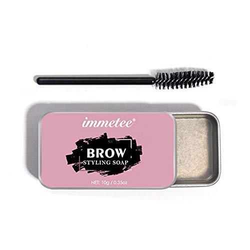 3D Brows Makeup Gel Brows Kit Wasserdichtes, langlebiges, augenbrauenformendes Wachsbrauen-Einstellgel mit Pinsel Augenbrauentönung Augenbrauen-Tätowierungsfarbe Frauenkosmetik