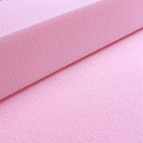 ANBEN Almohadillas de repuesto para asiento de espuma de alta densidad, extra firme, para silla, sofá, silla, banco, asiento de banco, cortado a cualquier tamaño, cuadrado, 80 x 20 '-3 cm, rosa