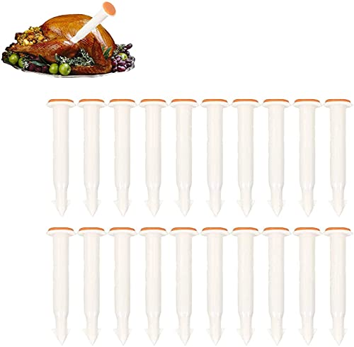 20pcs Turkey Pop Up Timer Thermometer for Oven Cooking Poultry Turkey Chicken Meat Beef