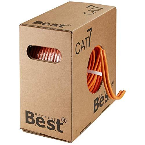 CAT.7 Verlegekabel 200m Single BEST Gigabit Netzwerkkabel KUPFER Lan 1000Mhz S/FTP KAT 7