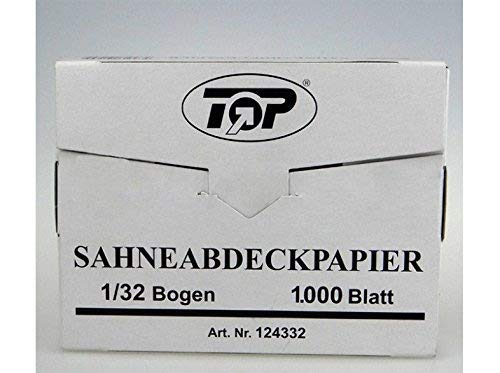Sahneabdeckpapier 1000St - 10000St 1/32 Bogen 12x18cm Wachspapier Abdeckpapier, Wunsch:1000 Stück