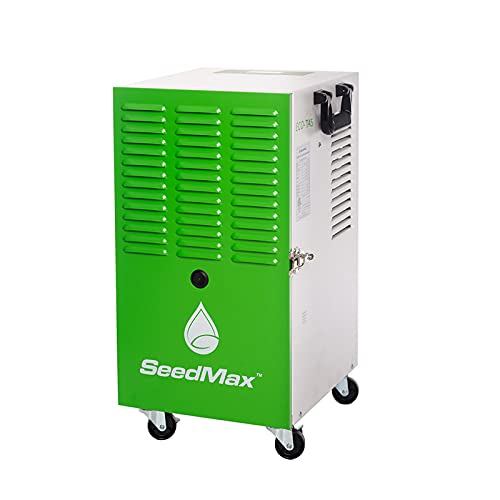 SeedMax 102 Pints Greenhouse Steel Commercial Industrial Dehumidifier For Grow Plants, Crawl Space, Basements, ETL Listed