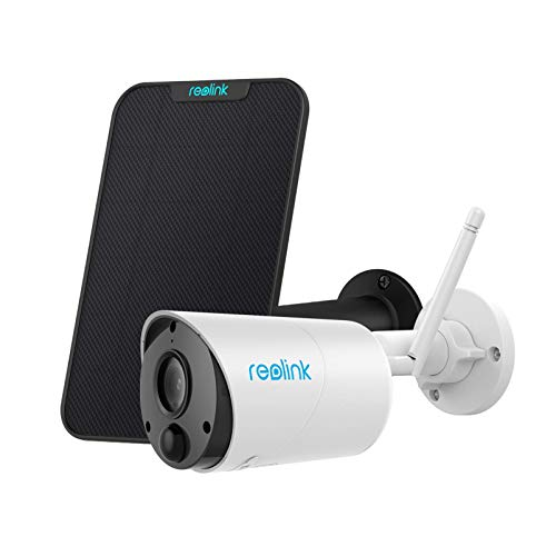 Reolink Argus Eco with Solar Panel Bundle - Outdoor Wireless Camera Rechargeable Battery Solar Capable Cloud Storage 1080P Home Security, 2-Way Audio, Support Google Assistant/Alexa/Cloud