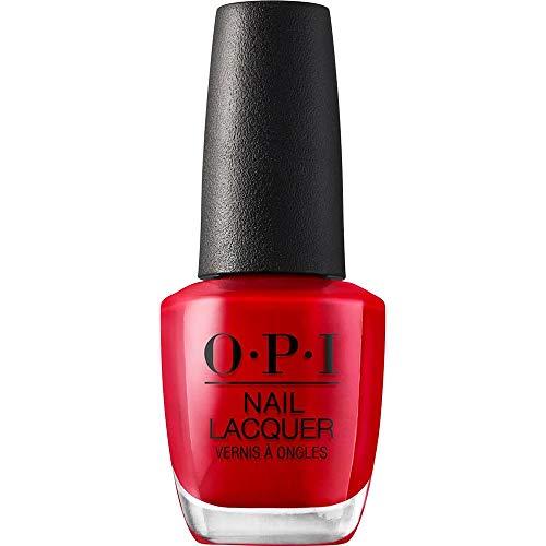 OPI Nail Lacquer - Esmalte Uñas Duración de Hasta 7 Días, Efecto Manicura Profesional, 'Big Apple Red' Rojo - 15 ml