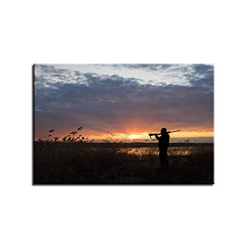 HOMEDCR Canvas affisch vägg Hd tryckta bilder 1 panel sjöstrand solnedgång landskap konst målning heminredning vardagsrum