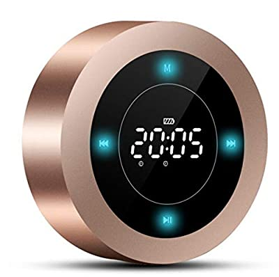 LunaBox Portable Bluetooth Speaker with Touch Screen,60 Foot Range,Rich Bass,Indoor, Outdoor Wireless Speaker(Rose Gold) by Lunabox Tech