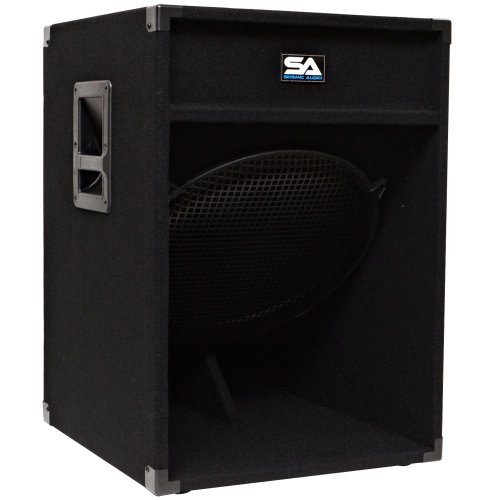 """Seismic Audio - 18"""" Down Firing Pro Audio Subwoofer PA Cabinet"""