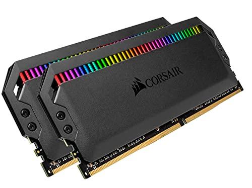 Kit di memoria desktop CORSAIR DOMINATOR PLATINUM RGB 16GB (2x8GB) DDR4 3600 (PC4-28800) C18 1.35V ottimizzaro per AMD, Nero