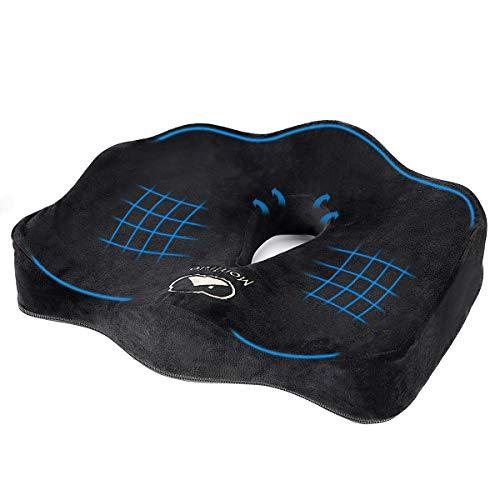 MonTrüe Ergonomisches Sitzkissen für Bürostuhl, Memory-Schaum Premium-Memory-Schaum ideal fürs Autofahren für den Bürostuhl