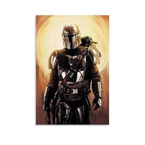 Ghychk Star Wars The Mandalorian – Mando und das Kind laufende Wandkunst,...
