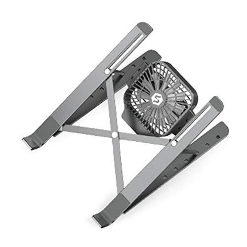 Soporte de ordenador portátil de refrigeración ajustable, diseño ergonómico, para la oficina en casa, biblioteca, café al aire libre