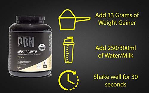 PBN - Premium Body Nutrition Weight Gainer 3kg Vanilla, New Improved Flavour