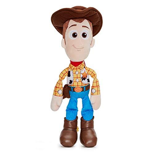 Disney Pixar Toy Story 4 Woody Soft Doll in Gift Box 25 cm Storia Giocattoli, Colore Blu, 37267