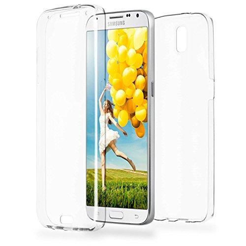 MoEx® Double Case kompatibel mit Samsung Galaxy Note 3 Hülle Silikon Transparent | Beidseitige Handyhülle mit 360 Grad Komplett Rundum-Schutz, Transparent