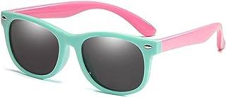 hgkl - hgkl Gafas de Sol Flexibles Marco de Goma Gafas de Sol polarizadas Polarizadas con Caja Niñas Girls Silicone Soleguramiento Gafas de Sol Gafas para Niños Bebé UV400 (Lenses Color : 13 R01 C1)