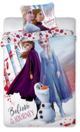 Frozen 2 - Funda nórdica de 140 x 200 cm y funda de almohada de 63 x 63 cm
