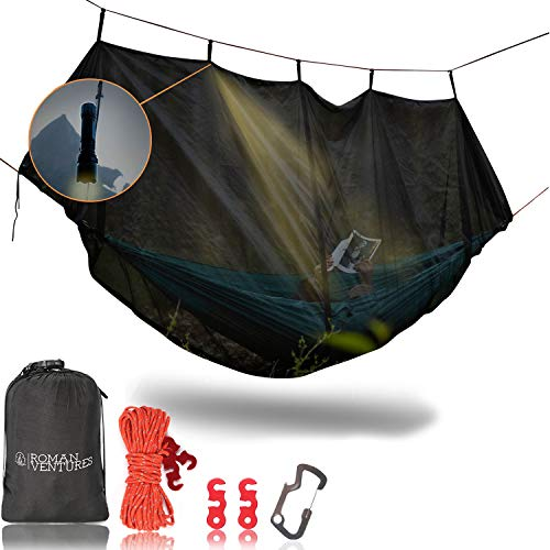 Bug net for a hammock camping