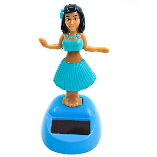 Kining Hawaiana Hula Girl Coche, Bailarina Hawaiana,Hula Girl Energía Solar Toy, Shaking Head Toy, Bailarina, Juguete De Decoración De Coche, Juguetes para Niños, Regalo (Color Aleatorio de la Base)