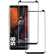 Galaxy S8 Panzerglas Schutzfolie, [2 Stück] 3D Hohe Qualität Gehärtetem Glass [HD Clear] [Blasenfrei] [9H Härte] [Anti-Kratzer] [Case Friendly] Panzerglasfolie für Samsung Galaxy S8