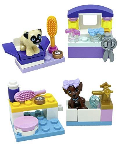 LEGO Juegos de accesorios para amigos: Dash para cachorros y peluquería para perros con toffee