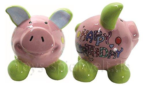 Swiggie Sparschwein Glücksschwein Happy Birthday Girl Spardose 8,5cm 13cm 15,5cm: Größe: 08,5 cm