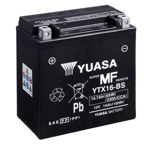 Varta Powersports batería de motocicleta ytx16-bs-1 AGM 12v 14ah 210a en nuevo
