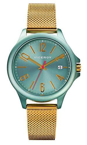 VICEROY - Reloj Aluminio Verde Y Acero IP Dorado Brazalete Sra Va - 471250-65
