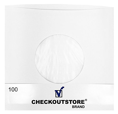 CheckOutStore (100) Paper Record Inner Sleeves with Hole for 7