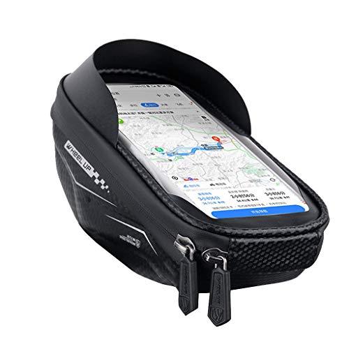 Bolsa para Bicicleta, Bolsa para móvil, Accesorio Impermeable para Montar en Bicicleta para iPhone de hasta 6,5 Pulgadas (Negro)