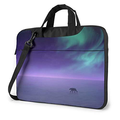 15.6″Lightweight Laptop Notebook Shoulder Backpack Bag Aurora Waterproof PC Briefcase Messenger with Strap