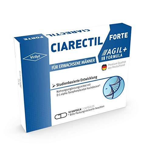 VIRILYT Ciarectil Forte für aktive Männer I 10 Kapseln hochdosiert I Mit Maca + L-Arginin + Zink + Selen I Entwickelt & Hergestellt in Deutschland I Studienbasierte Entwicklung
