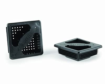 """Camco 40325 No-Insect Bumper Cap Set - Features Small Holes to Increase Airflow and Block Insects - Fits Standard RV 4"""" Square Bumpers by Camco"""