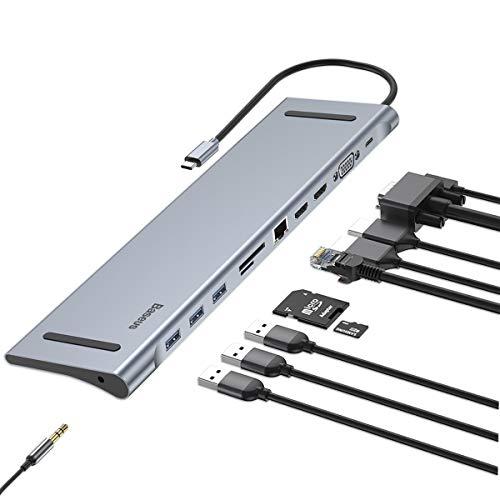 USB C Laptop Docking Station, Baseu…