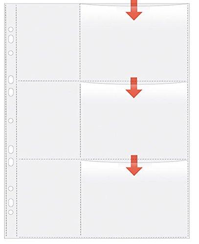 Veloflex 5347200 Fotohüllen DIN A4, Fotosichthüllen, Sammel-Hüllen, für 6 Fotos in Größe 9x13cm quer, 5 Stück