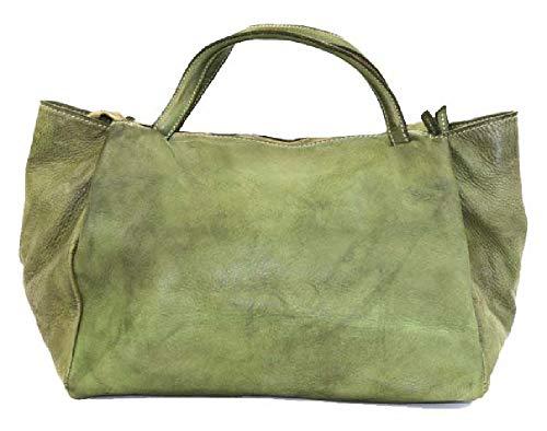BZNA Bag Diana grün green Italy Designer Damen Handtasche Schultertasche Tasche Leder Shopper Neu (sieht etwas dunkler aus als auf Bild)