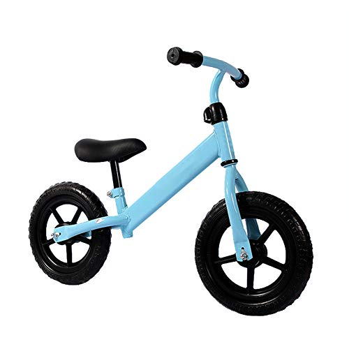 Kids Balance Bike for 2 3 4 5 6 Years Old Girls and Boys, Toddler Bicycle with Adjustable Seat Height, Best Toys for Sports Outdoors, 12'',Blue