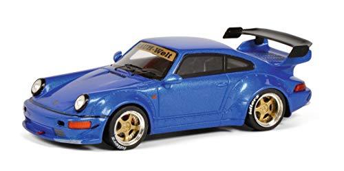 Schuco 450911400 RAUH-Welt RWB Porsche 911, Baureihe 964, Modellauto, Maßstab 1:43, Resin, blau metallic