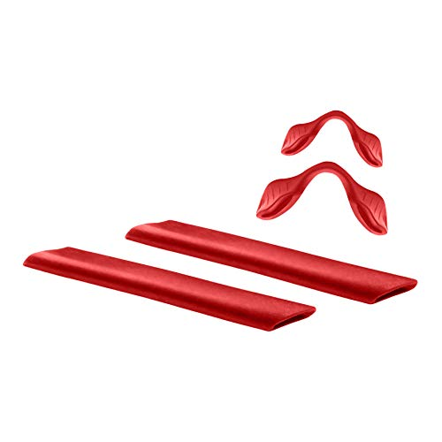 MYCOURAG Replacement Rubber Kit Compatible with Oakley RadarLock Series Sunglass - Red Earsocks & Nosepieces