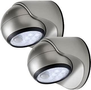 LIGHT IT! by Fulcrum 20035-101 6 LED Wireless Motion Sensor Weatherproof Porch Light, 2 Pack, Silver
