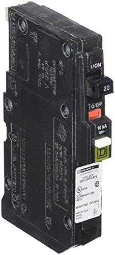 Square D by Schneider Electric QO120PCAFI 20-Amp Single-Pole Plug-On Neutral CAFCI Circuit Breaker