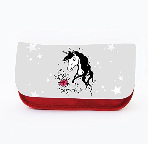 Trousse à crayons ou maquillage trousse motif licorne licornes unicorn f032 cheval