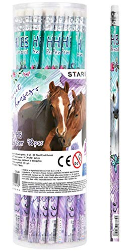 Unbekannt I Love Horse Pferde Bleistift und Radiergummi 16 teiliges Set Mitgebsel