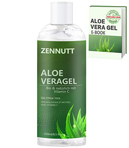 Aloe Vera Gel,250ML Bio Aloe Vera Gel w/Free E-Book 100% Nature for Soothing & Hydrating Face,Hair,Body,Sunburn Relief,Aftershaves Lotions for Mum Christmas Birthday Gifts for Women
