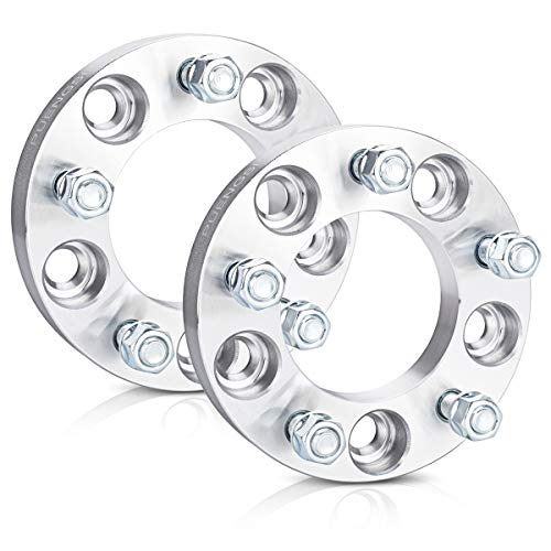 """PUENGSI 5 Lug Wheel Spacer 5x5 to 5x5(127mm) 1"""" 87.1mm Wheel Adapters Fit for Jeep Commander Grand Cherokee Wrangler with Thread Pitch 1/2"""""""