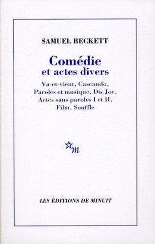 Comedie Et Actes Divers: Actes Sans Paroles 1